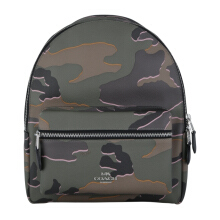 COACH F31452 Charlie Med Backpack Wild Camo Green Multi [COA01866B] Green