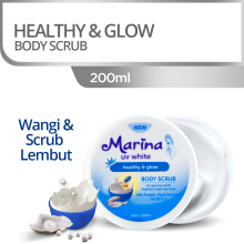 MARINA UV White Body Scrub Healthy & Glow 200ml