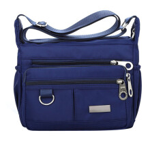 BESSKY Women's Fashion Solid Color Zipper Waterproof Nylon Shoulder Bag Crossbody Bag_