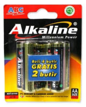 Alkaline Baterai ABC AA / A2 LR6 1.5V 4+2 Battery Original