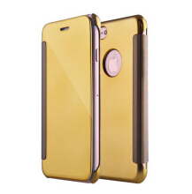 Smatton Case hp Apple iphone 6 6s Luxury Electroplated View Mirror Flip Leather Hard Cover Case Shell