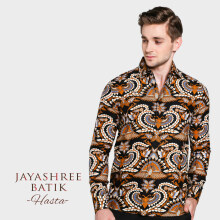 JAYASHREE BATIK Slim Fit Short Sleeve Hasta - Black