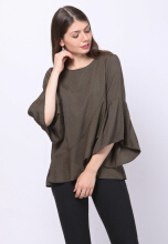 Point One MADISON Green Blouse - Green
