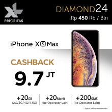 XL PRIO DIAMOND 24 bulan + CASHBACK for iPhone XS Max All Series