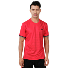 YONEX Men's Round Neck T-Shirt - Ribbon Red