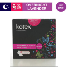KOTEX Premium Natural Care Overnight Lavender 30's