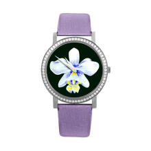 TEIWE SWISS TW3001-S FIORE STAINLESS STEEL PURPLE LEATHER Purple