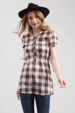 Point One KARLA Plaid Shirt 292770