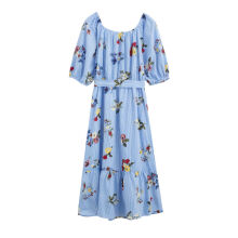 INMAN 1882104035 Dress Summer Puff Sleeve Woman Long Elegant Dress