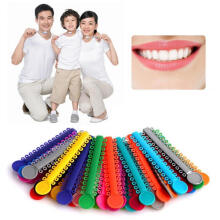 Farfi 40Pcs 1Pack Dental Elastomeric Ligature Ties Orthodontics Elastic Rubber Bands as the pictures