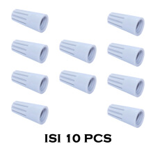 EELIC PEL-P1 ISI 10 PCS LASDOP PENYAMBUNG KABEL PUTAR CRIMP WIRE ELECTRICAL Grey