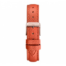 ROSEFIELD The Tangerine Stitched Rose Gold Buckle Clasp with Tangerine Leather Strap [STRS-S143]