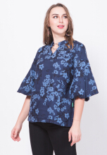 Point One SASHA Navy Blouse - Navy