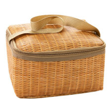 [COZIME] Waterproof And Thermal Insulation Rattan Woven Lunch Bag Others
