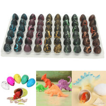 60pcs Magic Add Water Dinosaur Eggs Hatching Dino Growing Cute Children Toy Gift