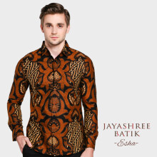 JAYASHREE BATIK Slim Fit Long Sleeve Esha - Black