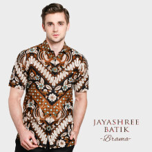 JAYASHREE BATIK Slim Fit Short Sleeve Brama - Black