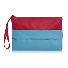 [LESHP]Style Colorful Patchwork Clutches Daily Spending Bag Feminine Wristlets Others