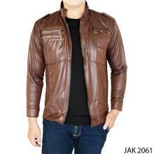 Gudang Fashion Jaket Outdoor Metalic - Coklat Tua / JAK 2061+A