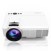 LESHP LED Projector 800*480 Mini Home Theater Video Projector Home Cinema US Plug Black