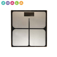 ZOALA Timbangan Badan Digital Kaca Kotak 26 cm - Digital Weight Scale Hitam-TIM-SQ-B