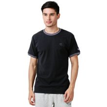 CHAMPION Classic Jersey Ringer Tee - Black/Granite Heather