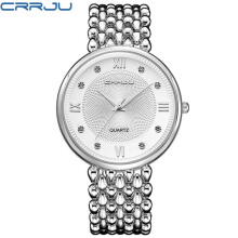 CRRJU Brand Relogio Feminino Female Stainless Steel Watch Ladies Fashion Casual Watch Quartz Women Watches