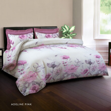 KING RABBIT Bedcover Single Motif Adeline - Pink/ 140 x 230cm Pink
