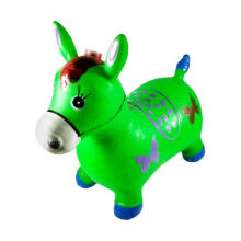 Kaptenstore New Jumping Animal Musik Tunggangan Kuda Karet Warna Hijau Green