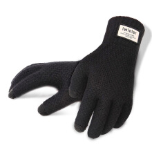 SiYing Men's imports plush gloves outdoor driving business simple touch screen gloves