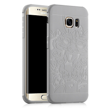 DELIVE Samsung Galaxy S6 Edge Case Luxury Soft Silicone 3D Dragon Full Cover Protective Phone Cases