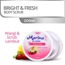 MARINA UV White Body Scrub Bright & Fresh 200ml