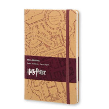 MOLESKINE Harry Potter Limited Edition Notebook Large Ruled Kraft - Marauder's M