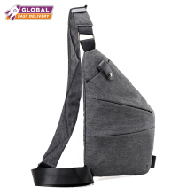 KINO New Model Sling Bag Tas Selempang Pria Tas Anti Maling - Dark Grey Dark Grey