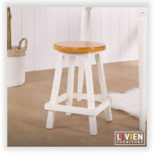 Kursi Bangku Bulat Maple Story - 45 cm (2 PCS)  - LIVIEN FURNITURE