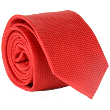 Fashionmall Stylish Small Lattice Pattern 6CM Width Red Tie For Men Red