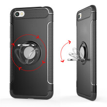 RockWolf Xiaomi Redmi note 5A case silicone metal ring shell magnetic bracket shell