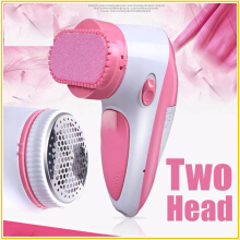 Jantens Two Head 2 in 1 Electric Lint Remover Fluff Pellet Quilt Ball Clip Machine Fabric Shaver Pink