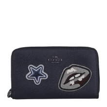 COACH F11853 Varsity Patches Phone Wallet Midnight [COA01697A] Dark Blue