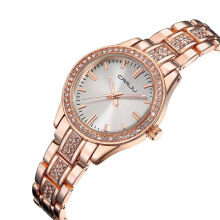 CRRJU Women Watches Clock Female Stainless Steel Watch Ladies Fashion Casual Quartz Wrist Watch