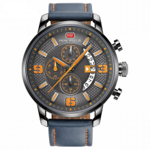 MINIFOCUS imports original sports men's simple multi-function rotary calendar Swiss army watch