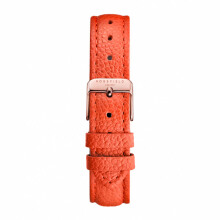 ROSEFIELD The Tangerine Stitched Rose Gold Buckle Clasp with Tangerine Leather Strap [TSTR-S146]