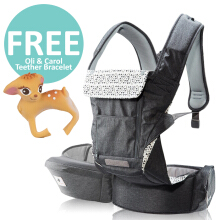 Pognae No. 5 Plus Hipseat and Baby Carrier	Mocha