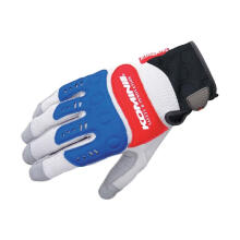 KOMINE GK-134 Instructor Gloves Pro EX Sarung Tangan Motor - Grey Red