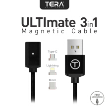 TERA Ultimate 3in1 Magnetic Cable Black