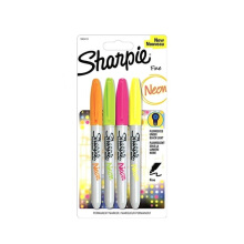 SHARPIE Fine Point Neon Permanent Marker Pack Of 4