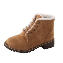 BESSKY Snow Boots Classic Women Winter Warm Boots Ankle Boots Lace-Up Shoes_