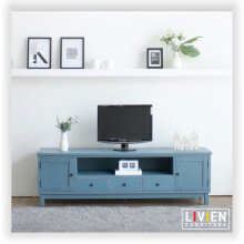 LIVIEN Furniture Meja Rak TV Dresser Minimalis - Polar Series - Sky Blue