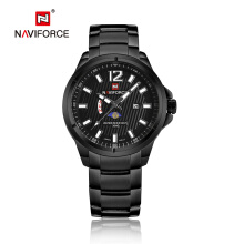 NAVIFORCE 9084 Men Watch Date Week Top Brand Luxury Military Business Stainless Steel Quartz Male Clock