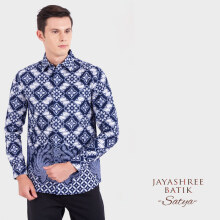 JAYASHREE BATIK Slim Fit Long Sleeve Satya - Blue